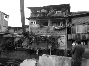 Covering city goverment sponsored demolitions and evictions along the Mampang in Jakarta, circa 2014.