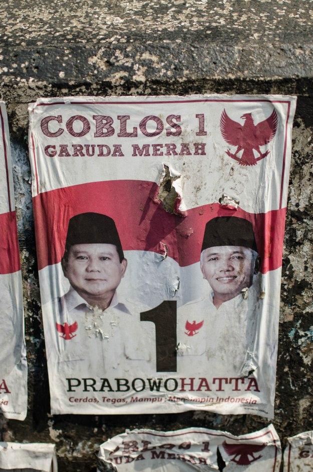A Prabowo-Hatta poster