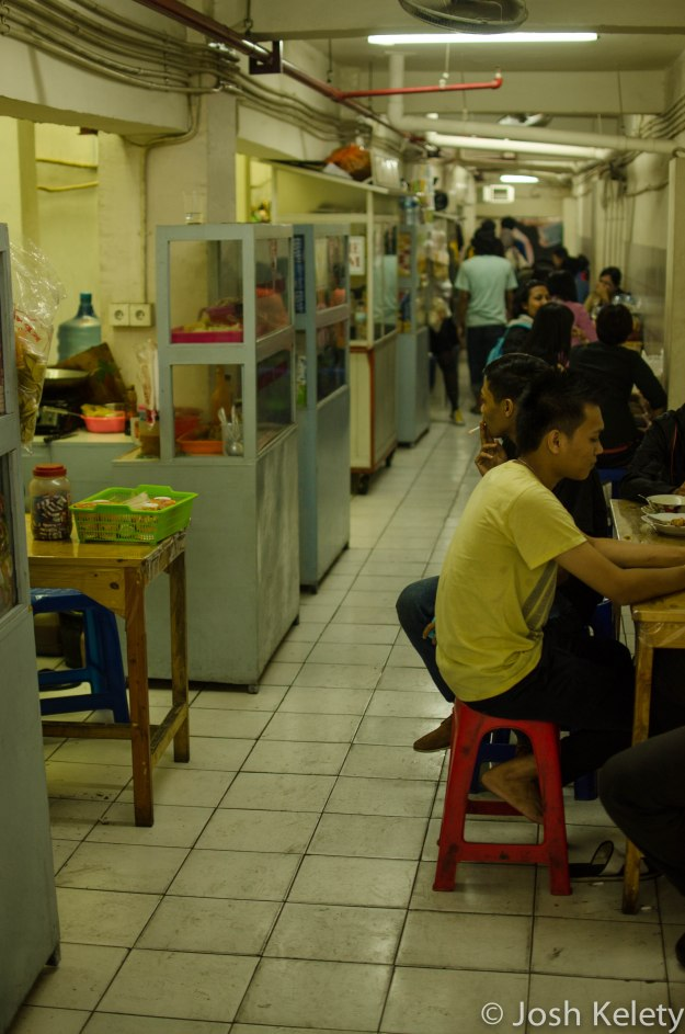 A government sanctioned 'street market' underneath a North Jakarta mall